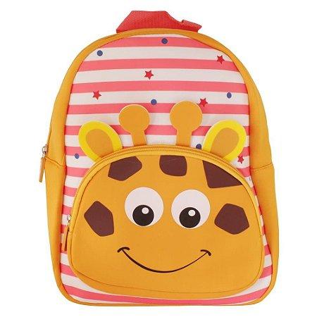 Mochila Escolar Infantil Listrada Clio Pets Girafa - CP2109P