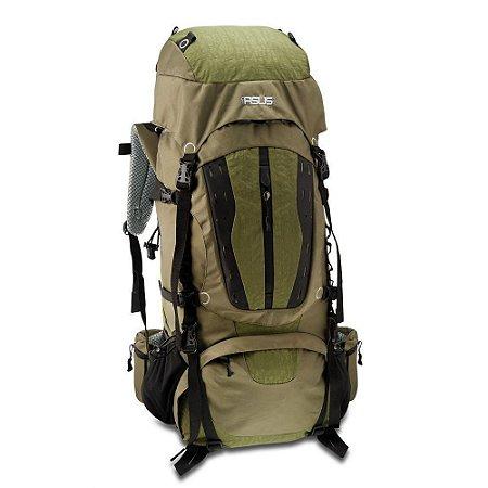 Mochila Camping Impermeável Asus 70 Litros Verde - AS6423