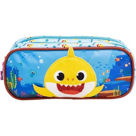 Estojo Duplo Baby Shark Plush Xeryus - 9045