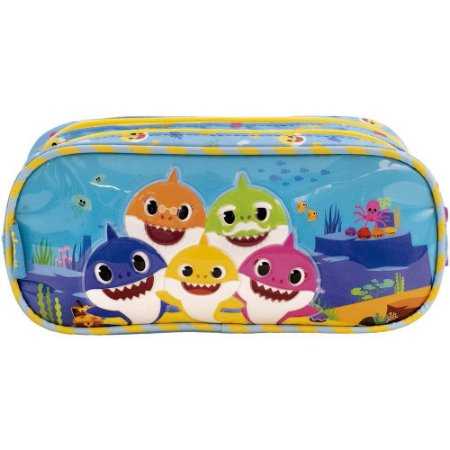 Estojo Duplo Baby Shark Family Xeryus - 9035