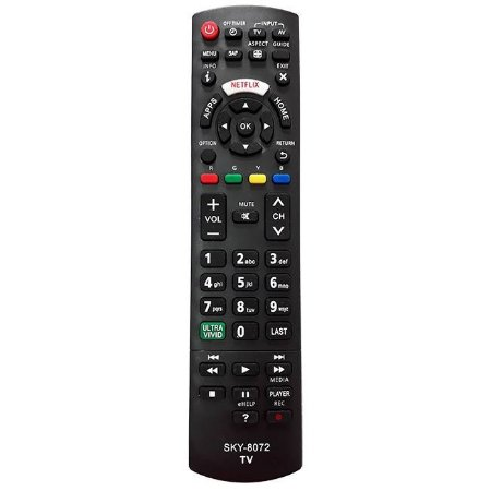 CONTROLE REMOTO TV LCD PANASONIC TECLA ULTRA VIVID MAX-8072 / SKY-8072