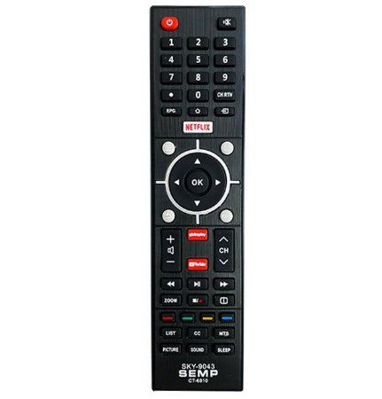 CONTROLE REMOTO TV LCD / LED / SAMART SEMP TOSHIBA SKY-9043 / LE-9043