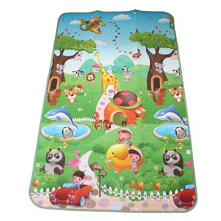 Tapete Térmico Emborrachado Infantil para Atividades Zoo 1,20 x 1,80M - IM43005