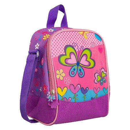 Lancheira Térmica Infantil Borboleta Roxo Convoy Kids - YS42037