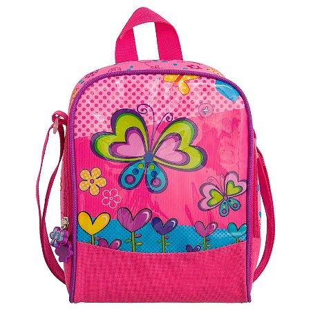 Lancheira Térmica Infantil Borboleta Rosa Convoy Kids - YS42037