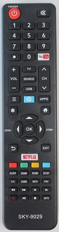 Controle Remoto LCD Semp Toshiba Netflix/youtube  SKY-9029