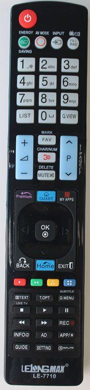 CONTROLE REMOTO UNIVERSAL TV LCD LG LE-7710