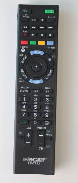 CONTROLE REMOTO UNIVERSAL TV LCD SONY LE-7712