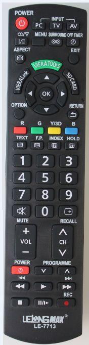 CONTROLE REMOTO UNIVERSAL TV LCD PANASONIC LE-7713