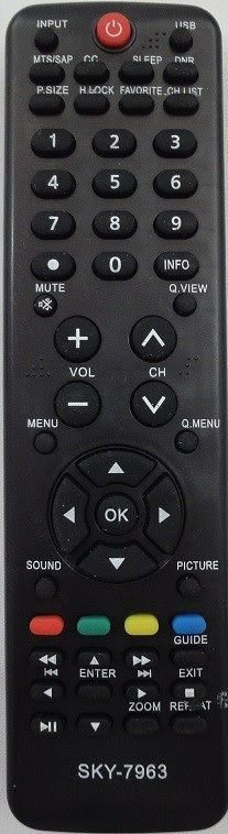CONTROLE REMOTO TV LCD H-BUSTER - SKY-7963