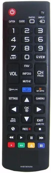 CONTROLE REMOTO TV LCD / LED/SMART - LG - AKB73975701