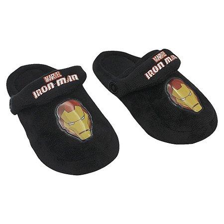 Pantufa Infantil Kick Marvel Iron Man (Homem de Ferro) P 25/27 Zona Criativa - 10071252