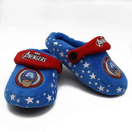 Pantufa Infantil Kick Marvel Captain America (Capitão América) G 31/33 Zona Criativa - 10071248