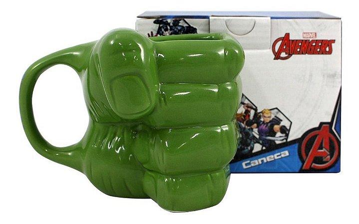 Caneca Formato Mão Hulk 3D 350ml Zona Criativa - 10022976