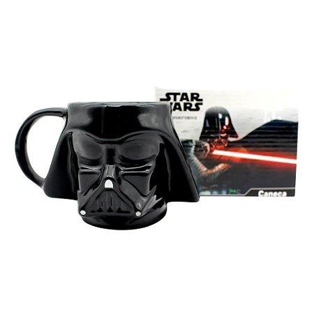 Caneca Formato Darth Vader 3D 500ml Zona Criativa - 10023509