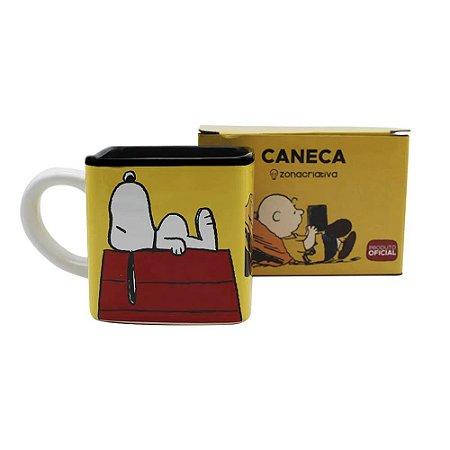 Caneca Cubo Turma Snoopy 300ml Zona Criativa - 10023351