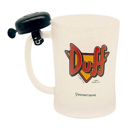 Caneca com Campainha Duff Os Simpsons 650ml Zona Criativa - 10023072
