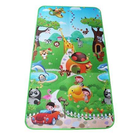 Tapete Térmico Emborrachado Infantil para Atividades Zoo 1,00 x 1,80M - IM43009