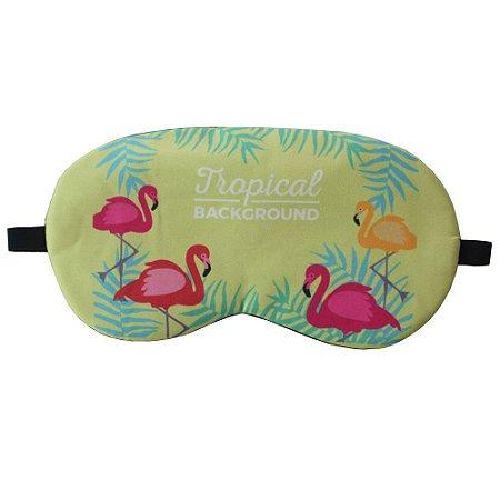 Máscara de Gel Térmico para Descanso Estampa Flamingo Mod.1 - XD356021