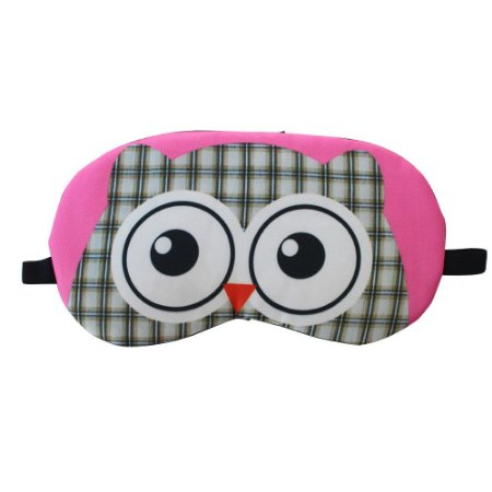 Máscara de Gel Térmico para Descanso Estampa Coruja Rosa - XD356194