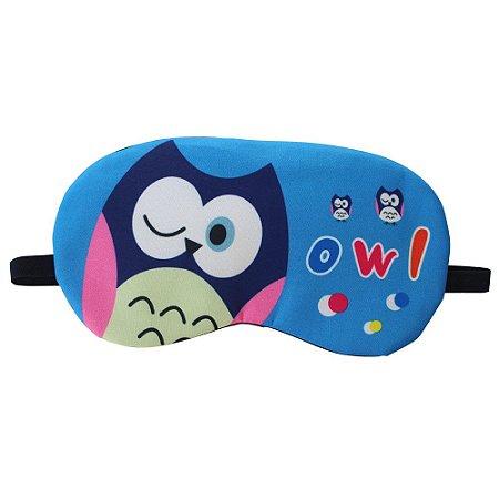 Máscara de Gel Térmico para Descanso Estampa Coruja Azul - XD356194
