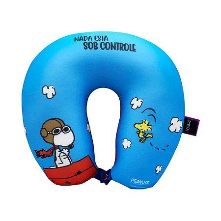 Almofada Pescoço Micropérolas Snoopy Sob Controle Zona Criativa - 10064171