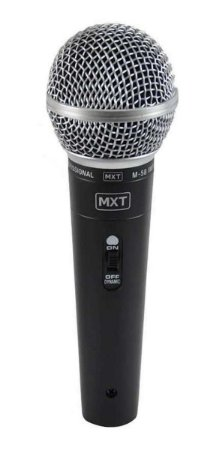 Microfone Dinâmico de Metal Profissional MXT - M-58