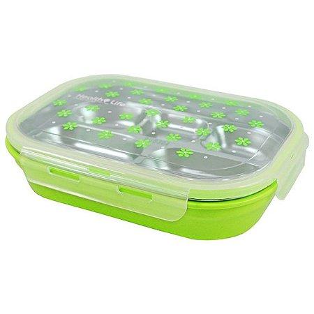 Pote para Marmita com 5 Compartimentos 1100ml Jacki Design - AWM17222 Cor:Verde
