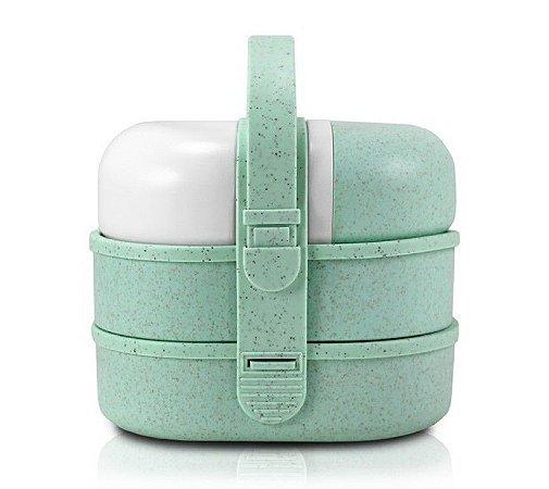 Kit Pote Marmita e Garrafa com 3 Peças (Lifestyle) AHX18712 - Jacki Design Cor:Verde