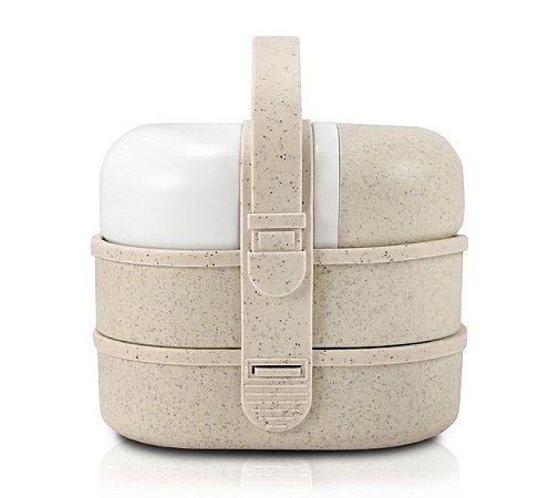 Kit Pote Marmita e Garrafa com 3 Peças (Lifestyle) AHX18712 - Jacki Design Cor:Bege