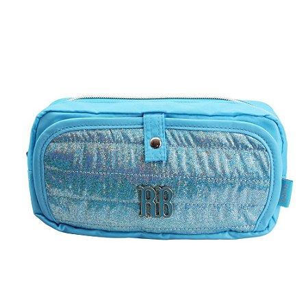 Estojo Duplo Glitter Azul Rebecca Bonbon - RB2066