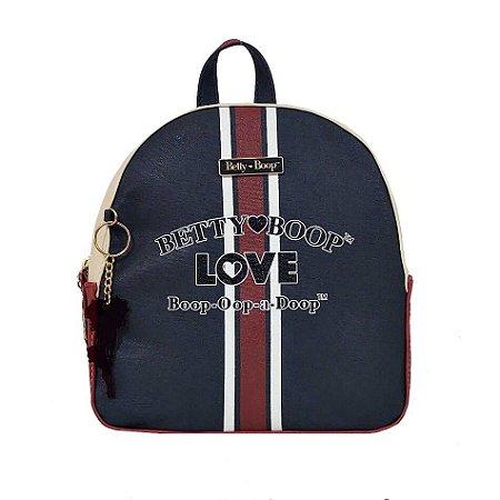 Bolsa Mochila Navy Azul Betty Boop - BP7907