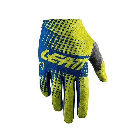 Luva LEATT GPX 1.5 GRIPR Amarelo Fluor Azul P