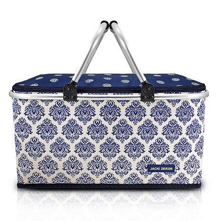 Cesta Térmica Dobrável de Piquenique Bella Vitta Jacki Design - AQR18626 Cor:Azul