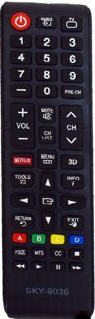 Controle Remoto TV LCD Smart Samsung Netflix/ 3D LE-7096
