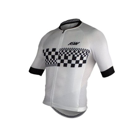 Camisa ASW ACTIVE CHECKER Branco Preto P
