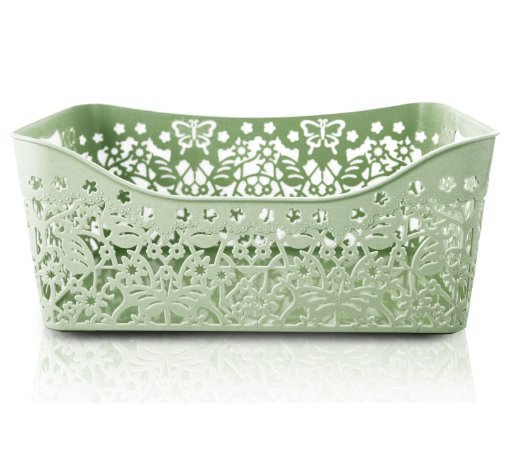 Cesto Organizador Retangular (G) Life Style Jacki Design - AYJ17169 Verde