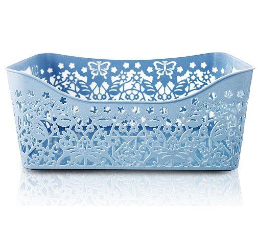 Cesto Organizador Retangular (G) Life Style Jacki Design - AYJ17169 Azul