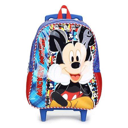 Mochila Infantil com Rodas 16 Mickey Selfie Xeryus - 8950