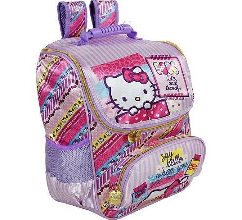 Mochila  Escolar 16 Hello Kitty Washi Pink - 7882