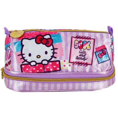 Estojo Infantil Duplo Hello Kitty Washi Pink - 7886
