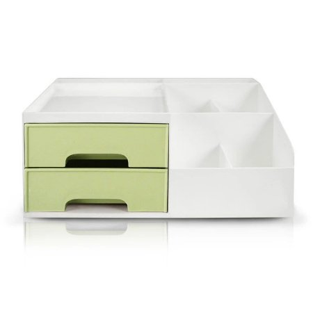 Organizador Multiuso de 2 Gavetas Jacki Design - AHX20905 Verde