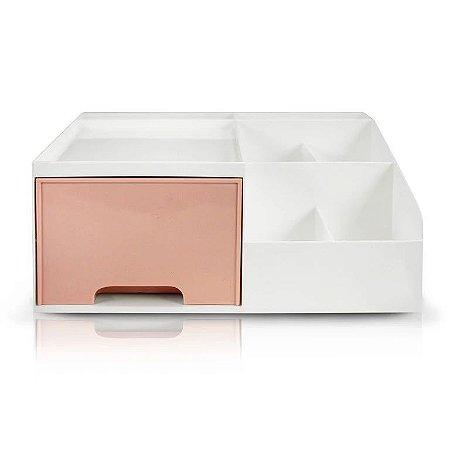 Organizador Multiuso de 1 Gaveta Jacki Design - AHX20906 Rosa