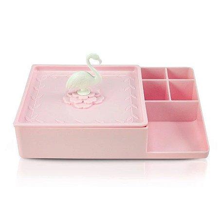 Organizador Multiuso Flamingo Jacki Design - AHX20907 Rosa