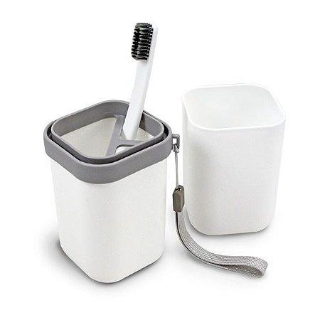 Porta Escova e Pasta de Dente Jacki Design - AGD18595 Branco