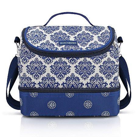 Bolsa Térmica com 2 Compartimentos Bella Vitta Jacki Design - AHL18622 Azul