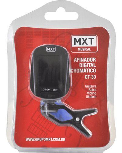 Afinador Digital Cromático Clip GT-30 MXT