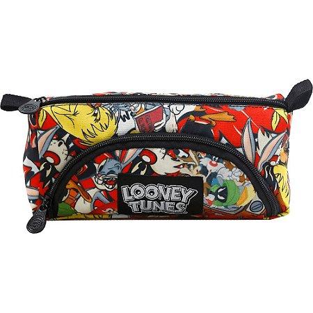 Estojo Escolar Duplo Looney Tunes T1 - 8192