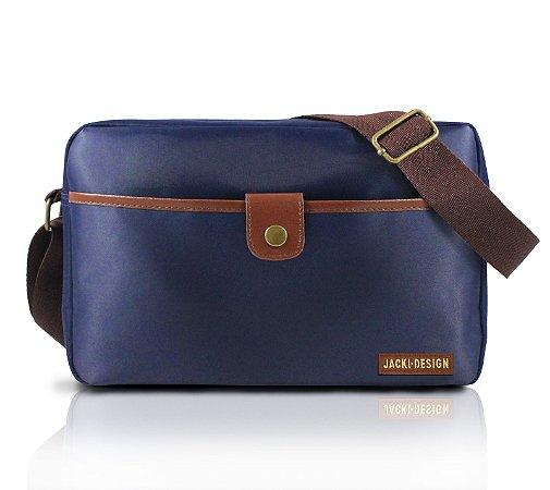 Bolsa Lateral For Men II Jacki Design - AHL17208 Azul/Marrom