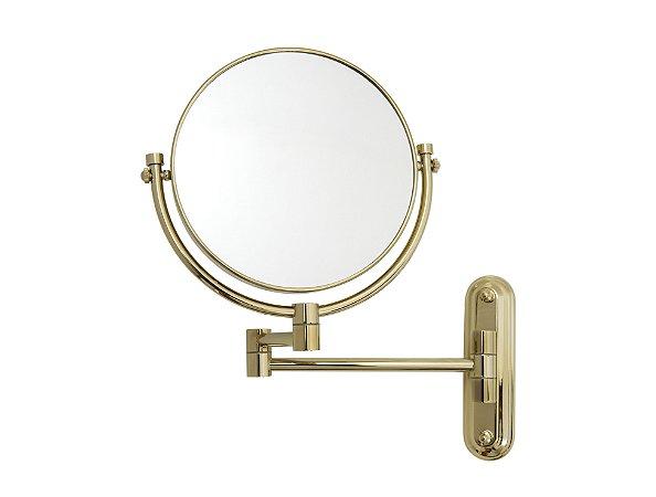 Espelho de Aumento Dupla Face para Parede Panther MC171 8' Polegadas 3x Dourado